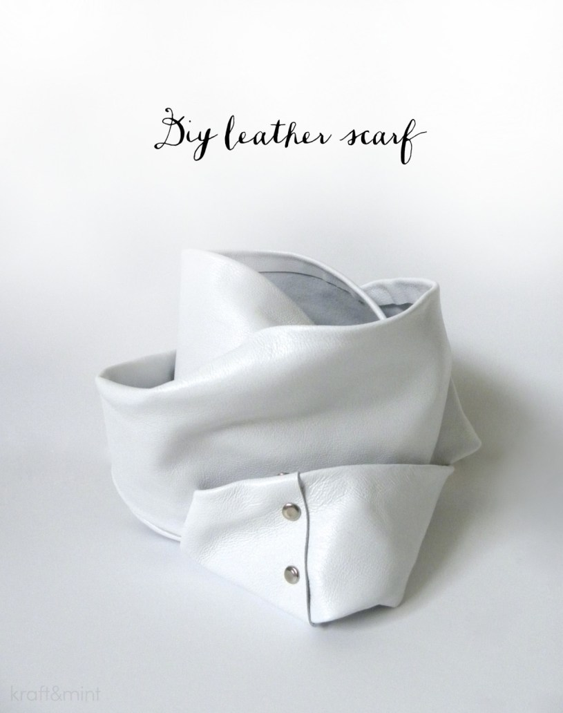 DIY Leather scarf - kraftmint