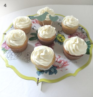 Make just a few cupcake toppers. In this case I only made two for this cupcake display.