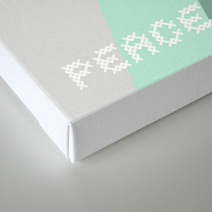 society6 kraft&mint canvas