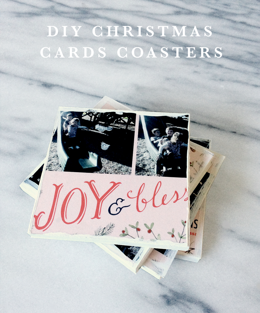 DIY Christmas Cards Coasters Tutorial  kraft&mint kraftmint dot com