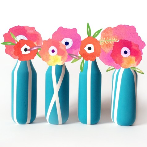 DIY Stem Flower Vases kraft&mint