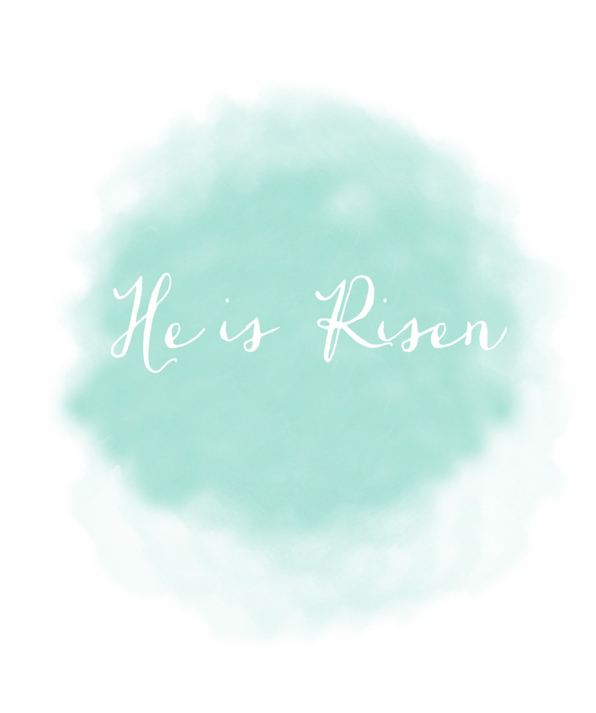 Easter Printable He is risen - kraft&mint