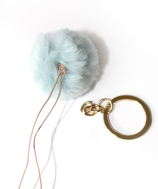 Attach the key ring to the jump ring you just put on.