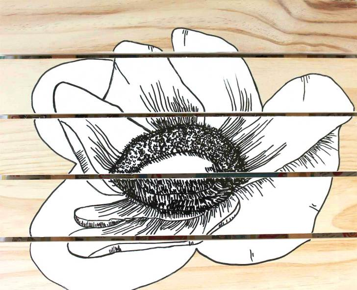 DIY Anemone Artwork kraft&mint blog