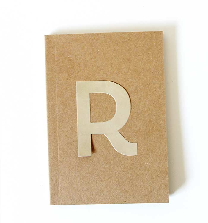 DIY Monogrammed Notebook