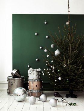 Christmas tree inspiration decor - kraft&mint blog