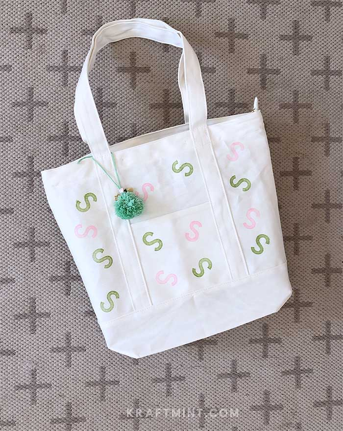 DIY Canvast tote bag with modern design
