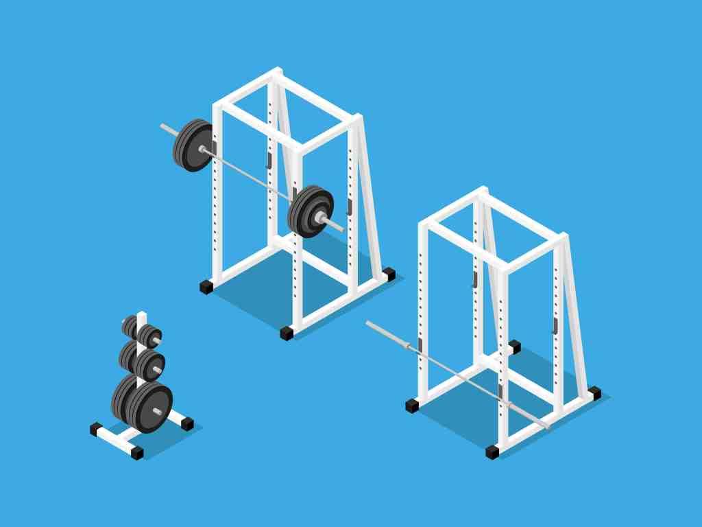 Die meisten Power Racks kommen ohne Hanteln und Gewichte.