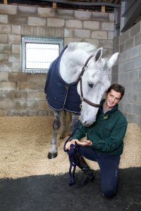 Picture by Vicky Matthers iconphotomedia Billy Twomey pictured at his stables with Easibed..Thursday 11th October 2012