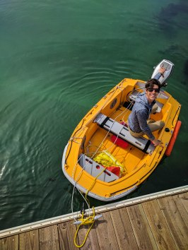 A guy and his dinghy
