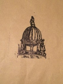 bigger dome on brown paper