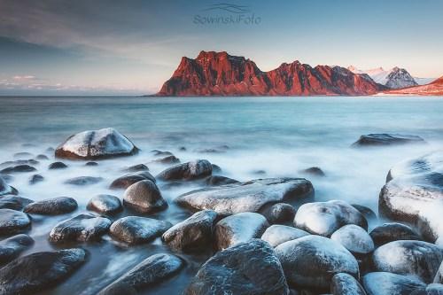 Morze i Góry krajobraz na ścianę