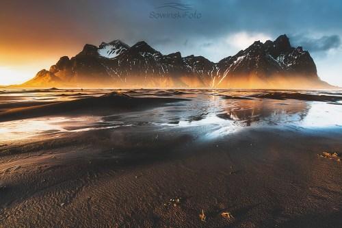 Islandia krajobraz druk