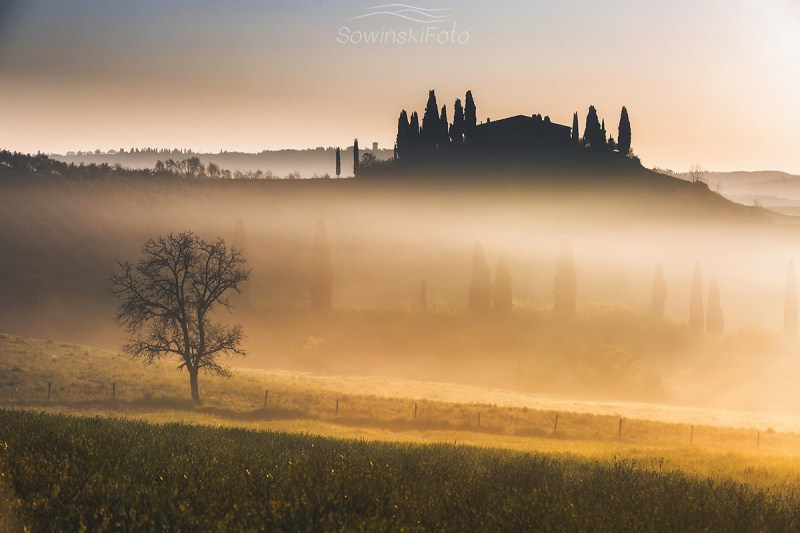 Krajobraz Toskania druk