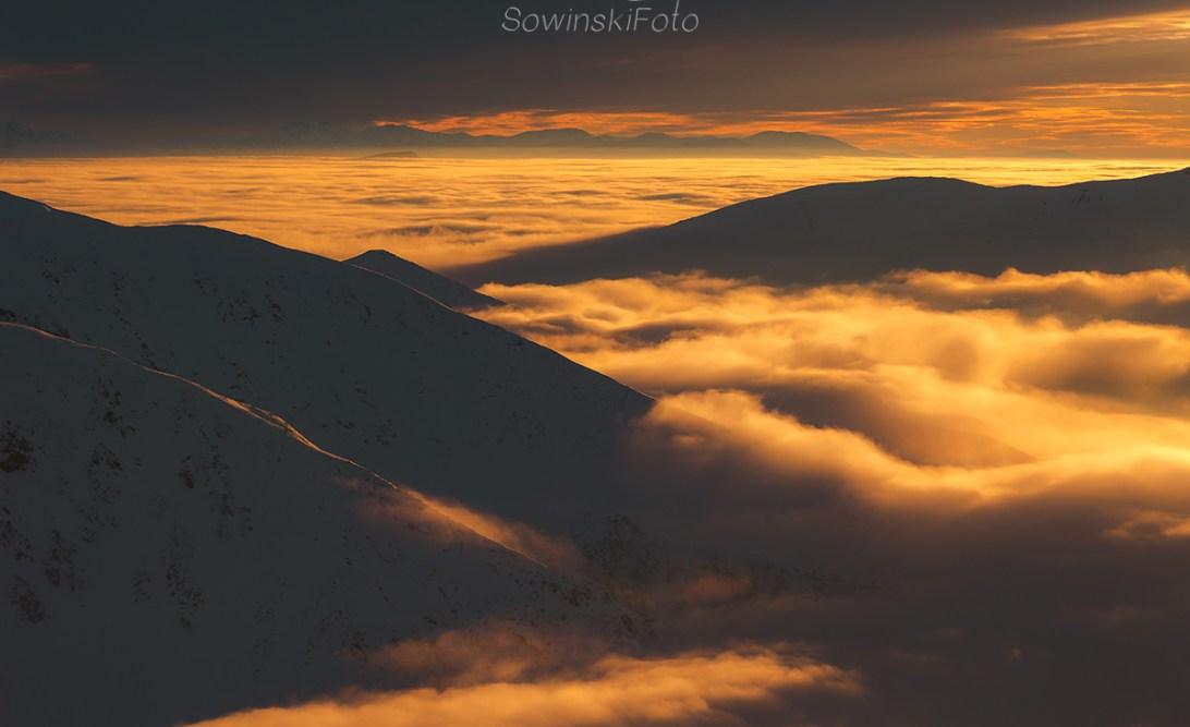 Krajobraz Tatry zachód słońca