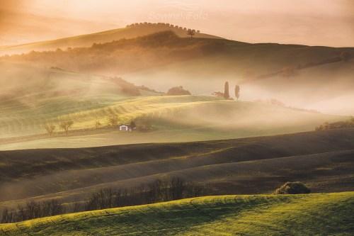 Toskania Włochy wydruk