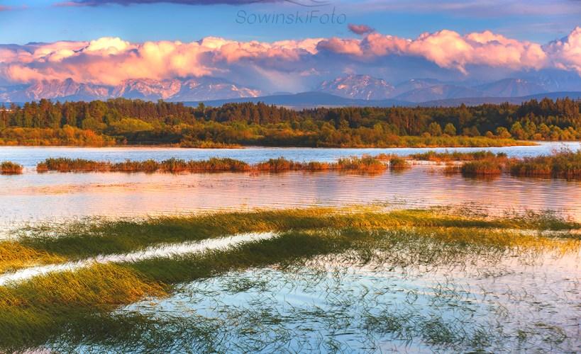 Krajobraz Jezioro Orawskie wiosna