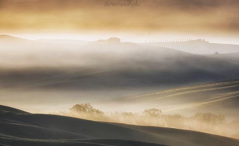 Zdjęcie na płótnie Toskania mgły