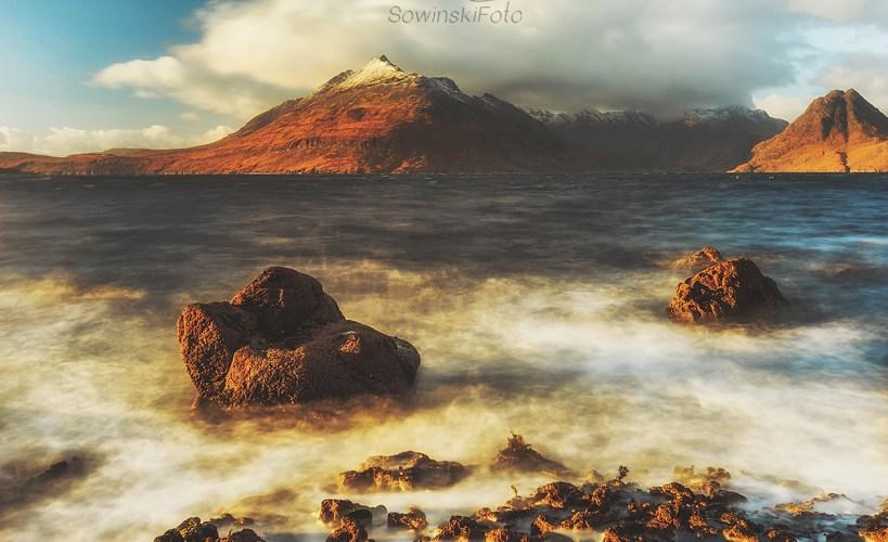 Góry i morze zdjęcie krajobraz