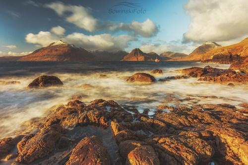 Isle of skye zatoka Falowanie w zatoce/ Szkocja