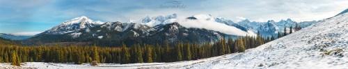 Rusinowa Polana panorama Zima