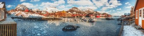 Zamarznięta Zatoka Norwegia Zamarzło /Norwegia