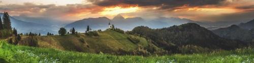 Słowenia kościół Na górce /Słowenia