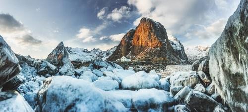 Lofoty zima. Epoka lodowcowa /Norwegia