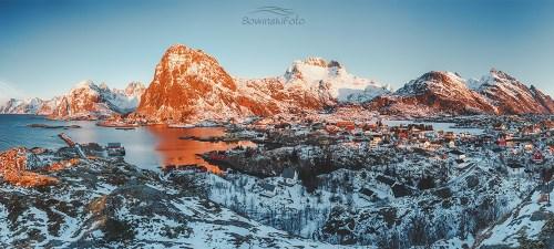 Zimowa wyprawa Lofoty. Zimowy dzień /Norwegia