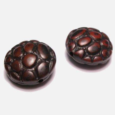 croco zwart/bruin 20 mm