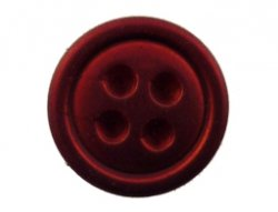 cabochon knoop metallic rood 15mm