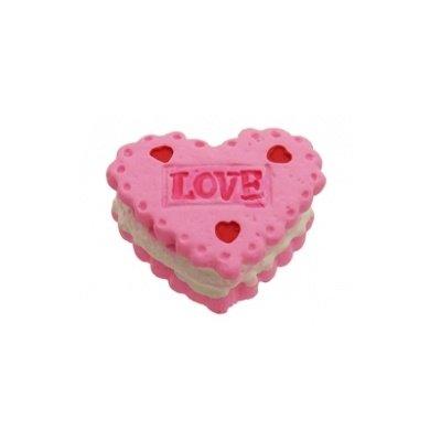 cabochon koekje roze 13x17 mm