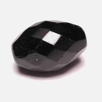 facet ovaal  zwart 12x18 mm