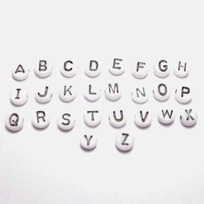 letterkraal wit 7 mm  K