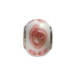 pandorastyle glas rondel 13 mm wit/rose