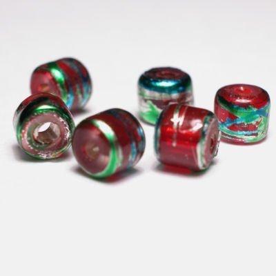 cilinder met streep rood 4x4 mm