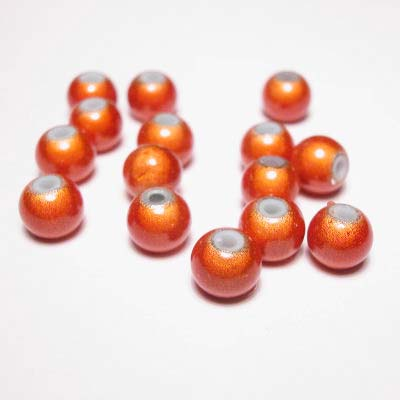 miracle bead oranje 6 mm