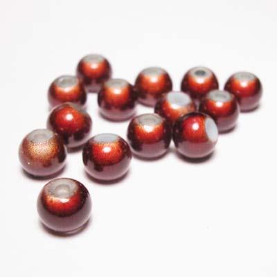 miracle bead bruin 6 mm