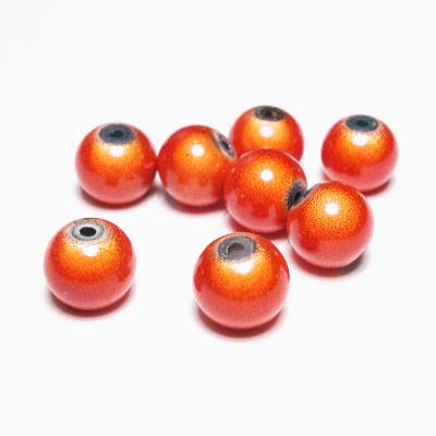 miracle bead oranje 8 mm