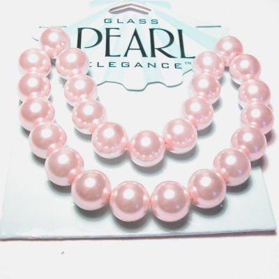 glasparels roze 10 mm