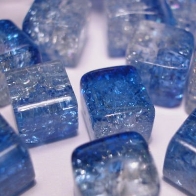 crushed beads 8x8 mm kleur 6660