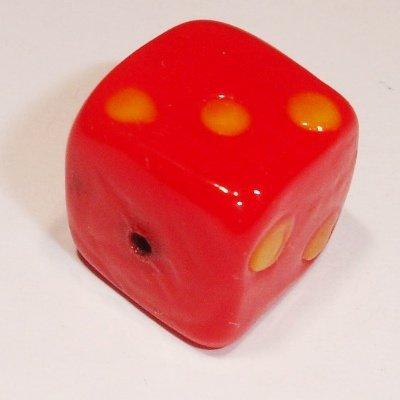 keramiek dobbelsteen rood 12 mm