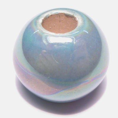 keramiek parelmoer mintgroen 14x17 mm