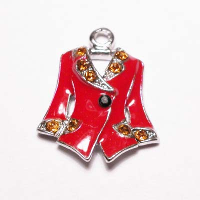 emaille hanger jasje rood 25mm