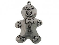 metalen hanger gingerbread man 26x40 mm