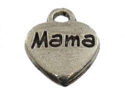 metalen hanger hart mama 9x12 mm