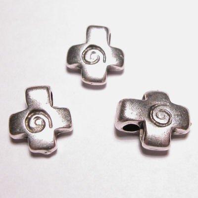 metalen kraal kruis 11x13 mm