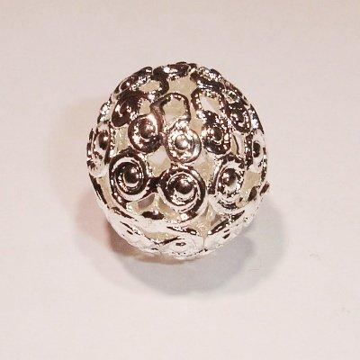 filigraan kraal zilver 12 mm