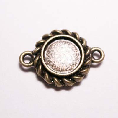 kastje 2-oog oud goud 7 mm