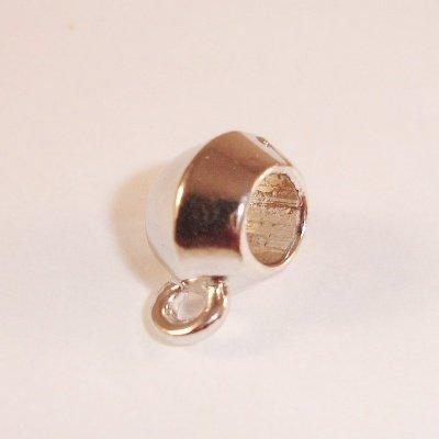 pandorastijl kraal met oogje 12x7 mm